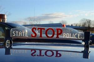 Michigan State Police car hood mounted stop sign | Hood ...