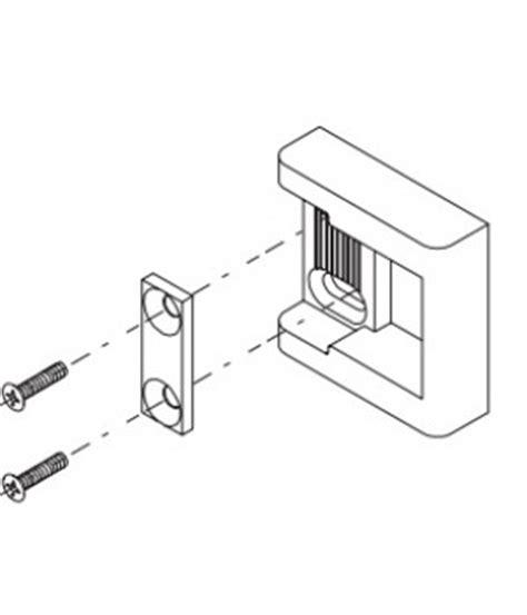 kawneer frame strike package   rim exit device