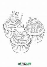 Cupcakes Coloring Cupcake Ausmalbilder sketch template