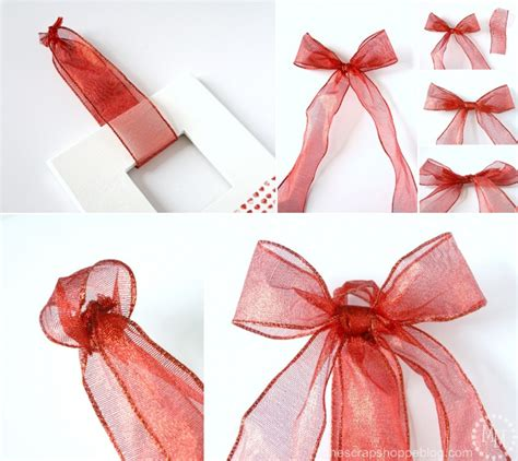 how to tie a bow out of ribbon valentine s day frame wreath the scrap shoppe
