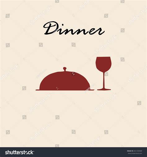 food drink menu background cloche wine stock vector