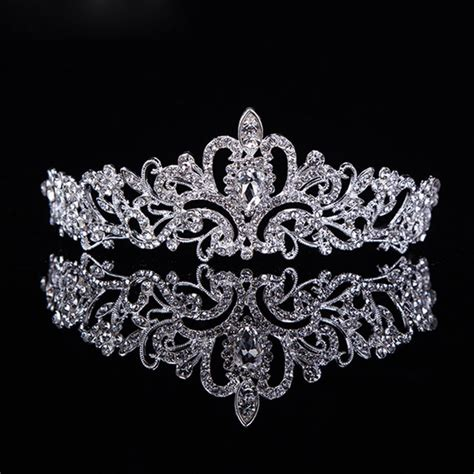 pageant crystal king crown pearl princess bride tiara