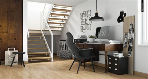 home studio bureau decordots scandinavian stairs
