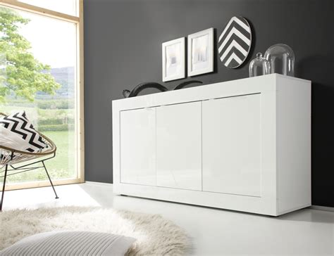 White Lacquer Sideboard Buffet by Urbino Collection Sideboard 3 Door Gloss White Lacquer