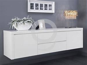 Lowboard Hängend Weiß : sideboard h ngend hochglanz wei 2 t ren 2 schubladen softclose ebay ~ Frokenaadalensverden.com Haus und Dekorationen