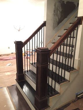 hand  peruvian walnut newel post  railing kit