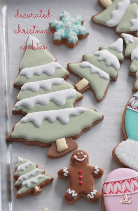ideas  decorated christmas cookies