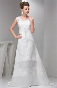 White lace bridal gowns modest disney princess classic for Modest lace wedding dresses