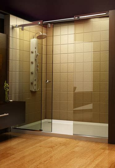 shower curtains versus shower door interior decorating