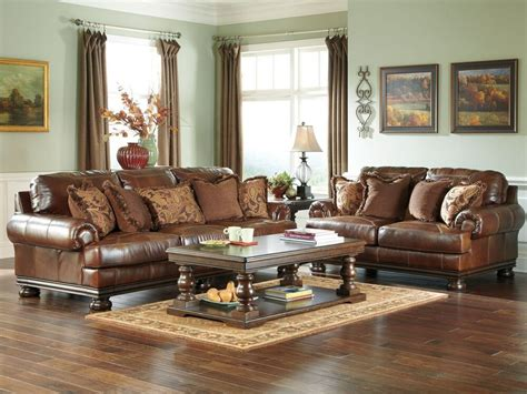 Traditional Loveseats by Princeton Large Traditional Genuine Leather Sofa