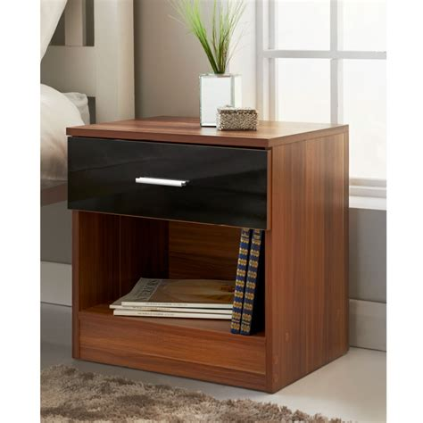 37087 end table bed hugo 1 drawer bedside table bedroom furniture b m
