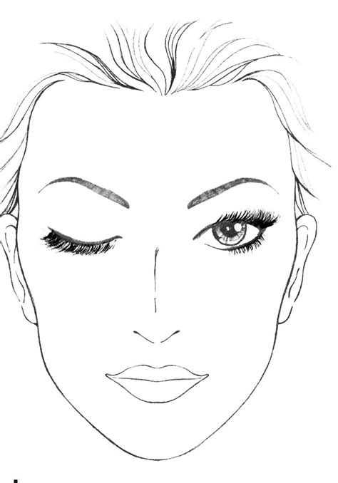 blank mac face charts makeup anarchist pictures  style