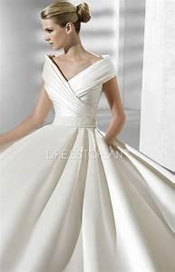 queen anne necklines a line ball gown chapel train wedding With queen anne wedding dress
