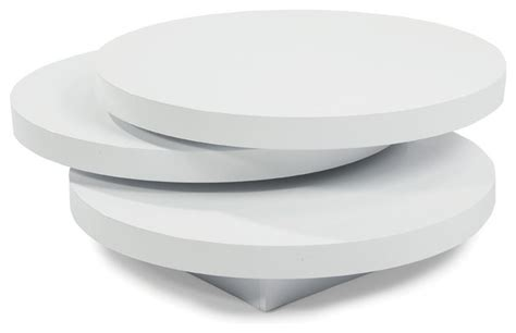 modern white round coffee table moe 39 s home torno round coffee table white contemporary