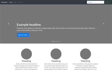 bootstrap carousel template exles 183 bootstrap