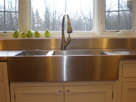 best material for farmhouse sink we love our new stainless steel countertop and sinks