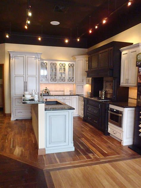 showroom design painted cabinets island   home