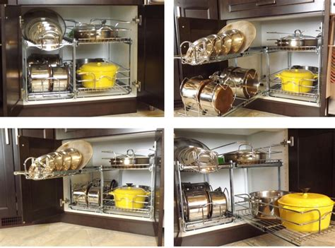 cabinet organization for pots and pans pots and pans organizer from lowes makeover ideas