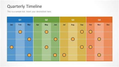 quarterly timeline template  powerpoint slidemodel