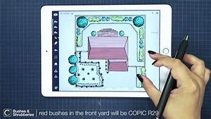 how to color a backyard landscape architecture design in With interior design drawing app