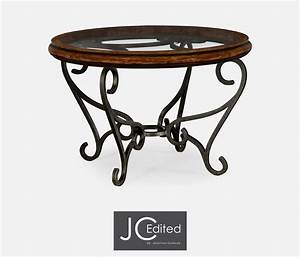 rustic end tables with wrought ironcoffee tables simple With rustic wood and wrought iron coffee table