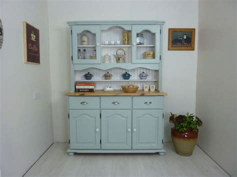 Country Style Farmhouse Pine Dresserpainted Vintage