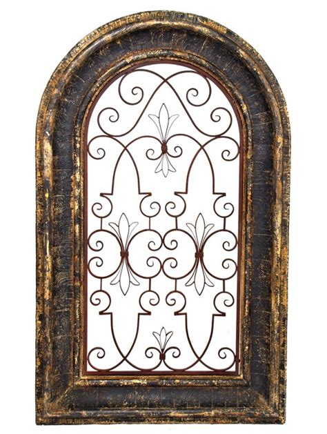 floor and decor dallas arched window wooden wall frame with iron decor in