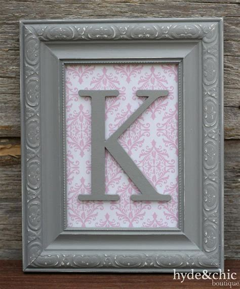 baby girl nursery wall letter monogram  hydeandchicboutique