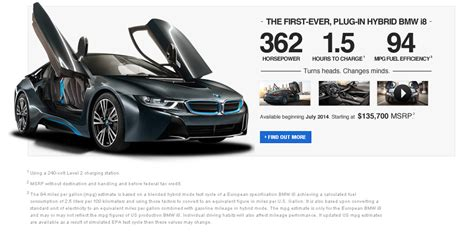 Bmw I3 Availability by Bmw Usa Site Now Lists July Availability For I8