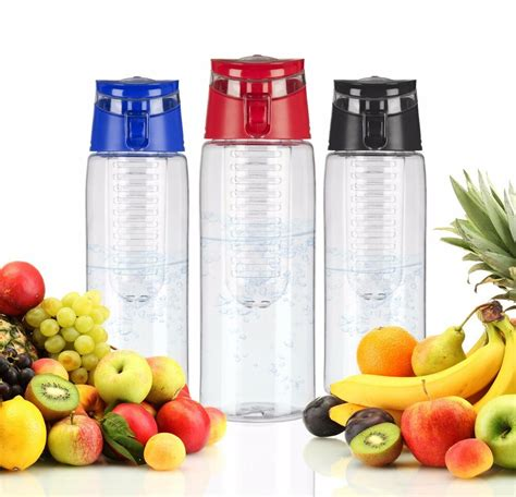 fruit infusion water bottle with fruit infuser aqua