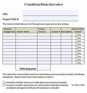 construction invoice template 7 free download for word pdf With sample invoice for construction work