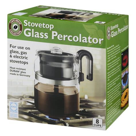 The outer part is designed similarly to regular coffee pots, and inside depending on your personal tastes, it should take anywhere from six to eight minutes for coffee to percolate on a camp stove. Coffee Maker Stove Top 8 Cup Thermal Pot Glass Kitchen Percolator Stovetop Perk | eBay
