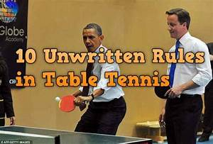 15 Unwritten Table Tennis Rules That You Should Know