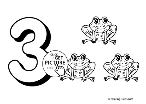3 Numbers Coloring Pages For Kids, Printable Free Digits