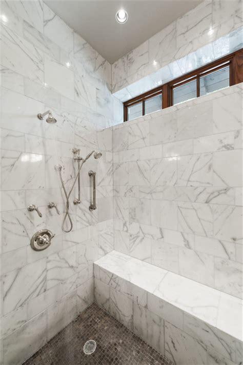 marble shower marble shower modern bathroom austin by schroeder