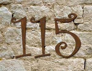 curlz font rustic house numbers or letters set of 4 2 With rustic house numbers letters