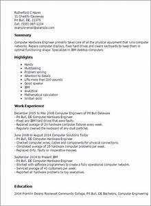 professional computer hardware engineer templates to With computer engineering resume