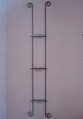 dkpewter gray wrought ironmetal  plate wall rack  large collectible plates ebay