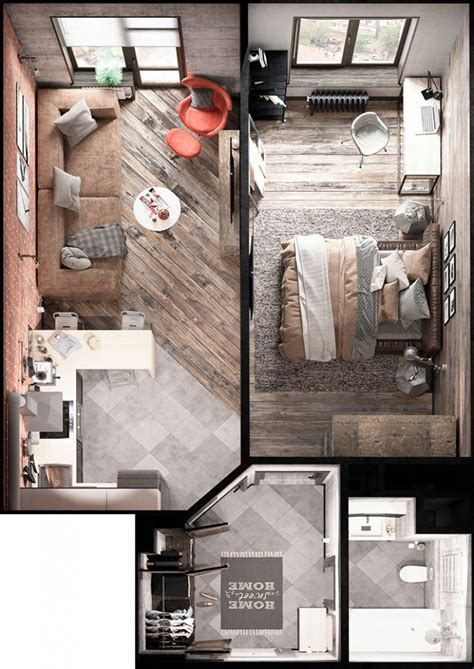 smart studio apartment floor plans