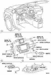 Toyota Highlander Radio Control Unit  Radio Control Unit