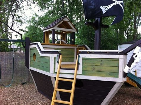 Backyard Pirate Ship Plans by Diy Pirate Ship For Garden In 2019 Play Houses