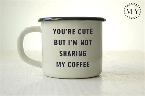 Free for personal and commercial use. ENAMEL Coffee MUG / Coffee Lovers Gift / Custom Tin Cup