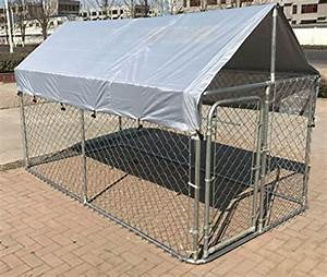 Chickencoopoutlet large outdoor chain link dog kennel for Dog run cage enclosure