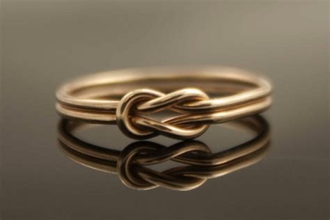 Double Band Infinity Heart Wedding Ring