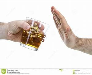 Hand Reject A Glass Of Whisky Stock Photo - Image: 44885485