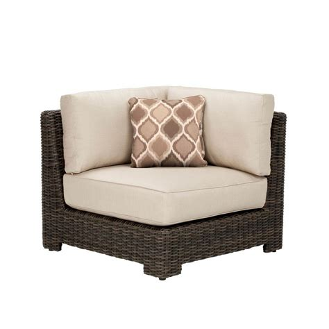 brown northshore corner patio sectional chair with