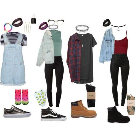 90u0026#39;s grunge outfits | Grunge outfits Huf and Monki