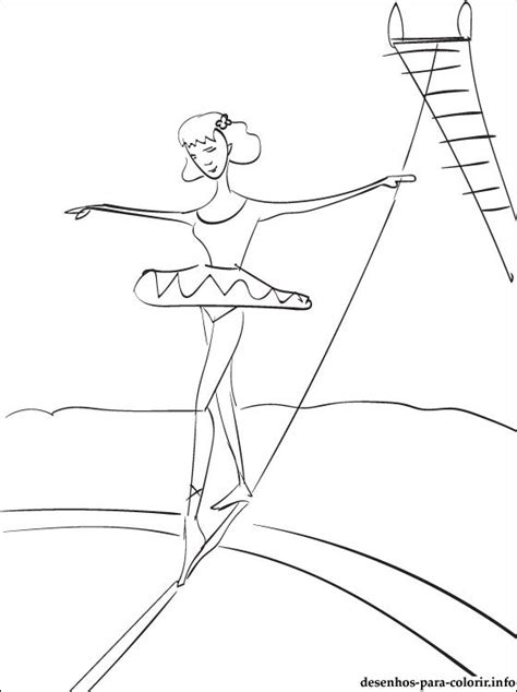 desenho de acrobata de circo  colorir desenhos
