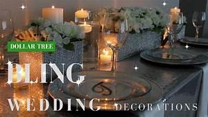 DIY WEDDING DECORATIONS, DOLLAR TREE BLING CENTERPIECE