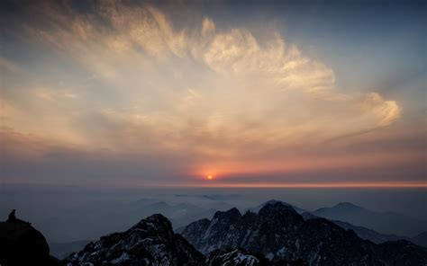 Nature, Photography, Landscape, Sunset, Mountains, Clouds
